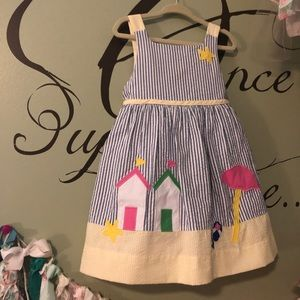 Florence Eiserman beach scene dress size 3T